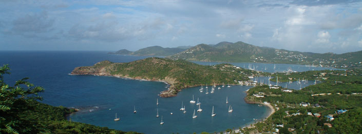 Antigua view from English Harbour