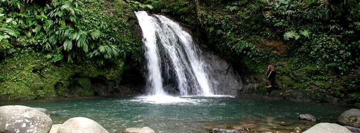 waterfall in Guadeloupe