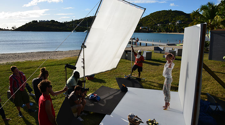Breuninger Shoot - Set Sun Diffuser 2