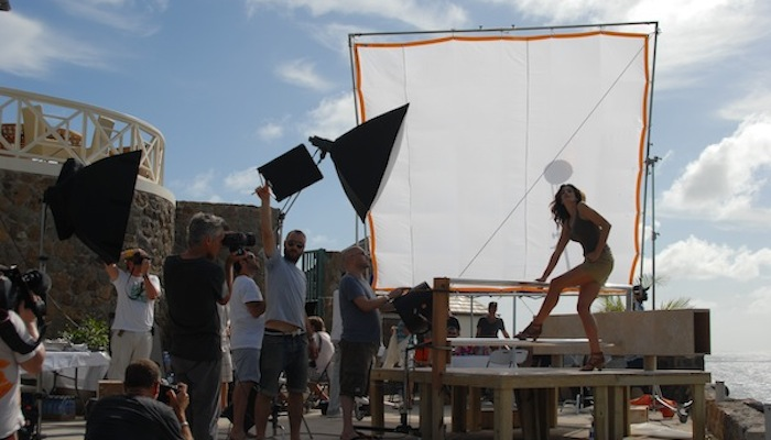 Deichmann Shoot - Cindy Crawford On Set